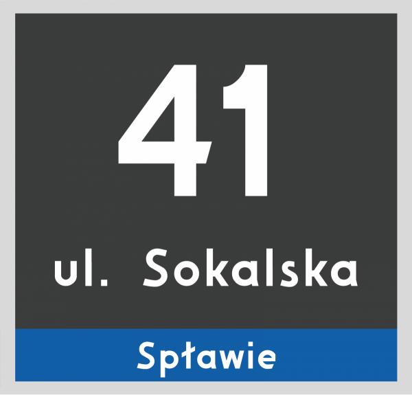 Tablica adresowa Poznań 23/22cm