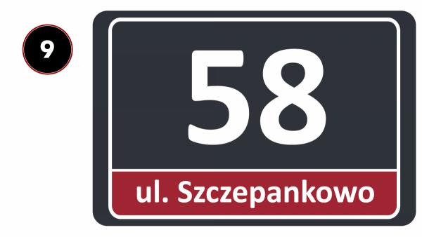 Odblaskowa tablica adresowa 30/20cm
