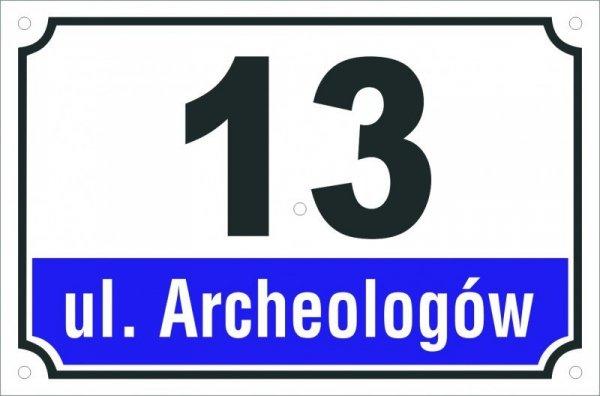 Tabliczka adresowa 25 cm x 16,5 cm