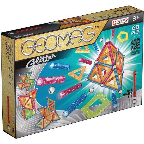 Klocki magnetyczne Glitter 68 elementów