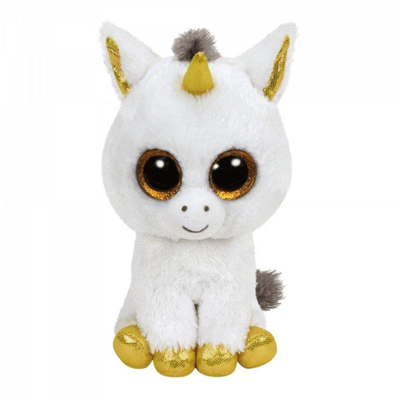 Maskotka TY Beanie Boos Pegasus - Biały jednorożec, 15 cm
