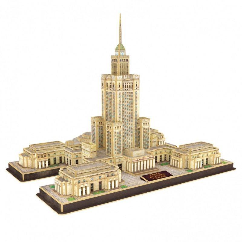 Puzzle 3D Palac Kultury i Nauki, 144 elementy