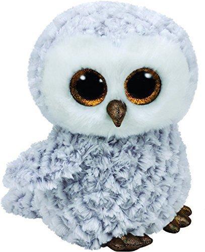 Maskotka TY Beanie Boos Owlette - Biała sowa, 24 cm