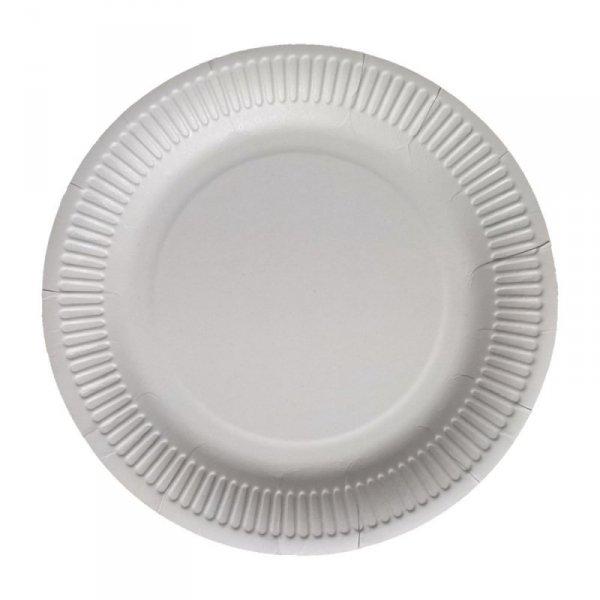 Talerz papierowy biały 23cm, 100szt
