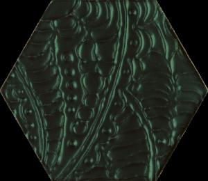 Paradyż Urban Colours Green Inserto Szklane Heksagon 17,1x19,8