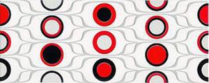 Ceramika Końskie Red Circles Inserto 20x50