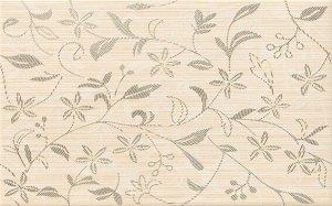 Cersanit Tanaka Cream Inserto Flower 25x40