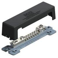 Szyna wyrównawcza pokrywa odporna na UV podstwa metalowa 7x25mm2 + 1x10mm + 1x płaskownik 1809 A 5015105