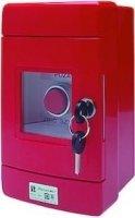 Przycisk wystający 1Z 1R czerwony w obudowie OBC pierścień niklowany SP22-WC-11/OBC/AM