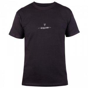 T-SHIRT REBELHORN CASUAL BLACK/WHITE XL