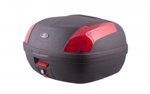Kufer Moretti MR-889, 46 l., czarny, czerwony odblask
