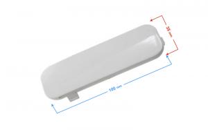 Dekor obudowy amortyzatora, prawy do skutera E-Max biała