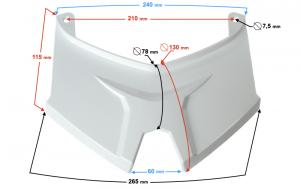 Obudowa - łącznik biały na kufer do skutera B-max