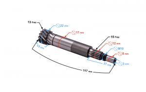Wałek sprzęgła silnik 1PE40QMB Galactic