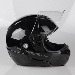 Kask motocyklowy LAZER MONACO EVO Pure Glass czarny metalik 2XS