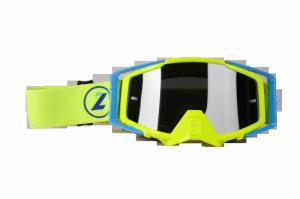 LAZER Gogle - Race Style Mirror Yellow Fluo - Blue - Yellow Fluo (kol. Mirror Srebrny)