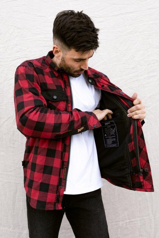 KOSZULA BROGER ALASKA RED/BLACK XXL