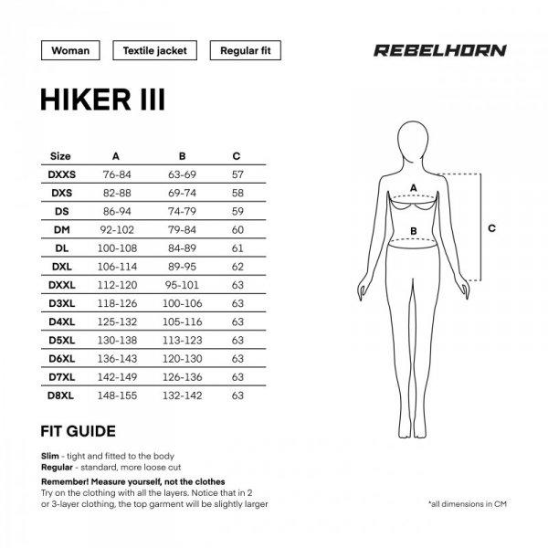 KURTKA TEKSTYLNA REBELHORN HIKER III LADY BLACK/GREY/FLO YELLOW DS