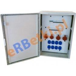 PAWBOL Szafa rozdzielcza 2x32A/5p, 2x16A/5p, 8x230V, 24 mod, IP 65