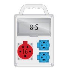 Rozdzielnica R-BOX SLIM 8S 1x16A/4p, 2x230V, IP44