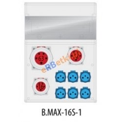 Rozdzielnica MAX BOX-16S 1x63A/5p, 1x32A/5p, 1x16A/5p, IP65