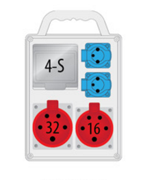 Rozdzielnica R-BOX SLIM 4S 1x16A/4p, 1x32A/4p, 2x230V, IP44