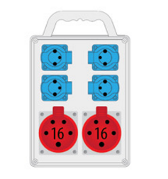 Rozdzielnica R-BOX SLIM 2x16A/4p, 4x230V, IP44