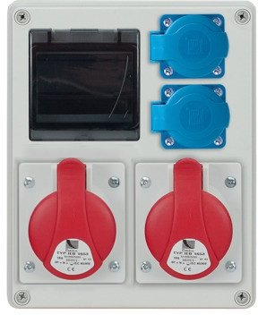 Rozdzielnica R-BOX 240R 4S, 2x16A/5p, 2x230V, puste okno, IP44