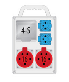Rozdzielnica R-BOX SLIM 4S 2x16A/4p, 2x230V, IP44