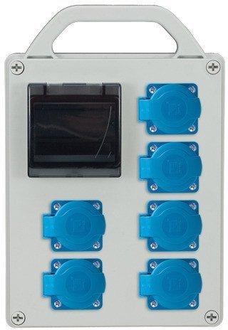 Rozdzielnica R-BOX 240R 4S 6x230V, zabezp.2xB20/1, IP44
