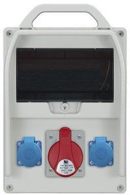 Rozdzielnica R-BOX 300 9S 1x16A/5p, 2x230V, puste okno, IP44