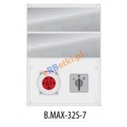 Rozdzielnica MAX BOX-32S 1x63A/5p, wył. (L/P), IP65