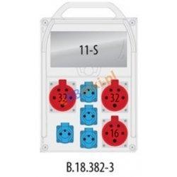 Rozdzielnica R-BOX 382R 11S 1x16A/5p, 2x32A/5p,4x230V zabezp. C32/3,B16/3,B16/1, IP44