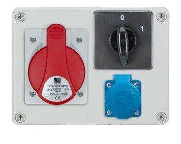 Rozdzielnica R-BOX 190 1x16A/5p, 1x230V, wył. (0/1), IP44