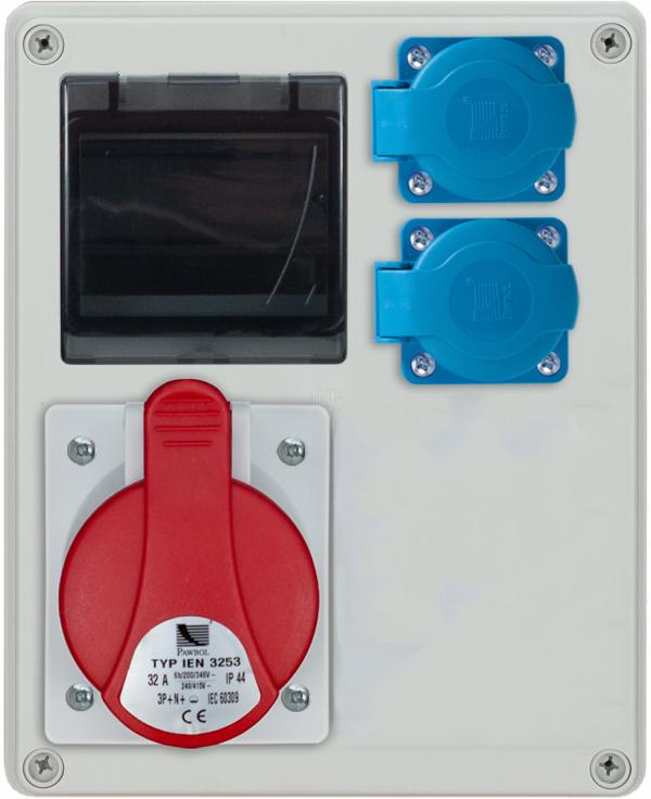 Rozdzielnica R-BOX 240R 4S 2x16/4p, 2x230V, zabezp. 1xM.01-B16/3, 1xM.01-B16/1, IP44