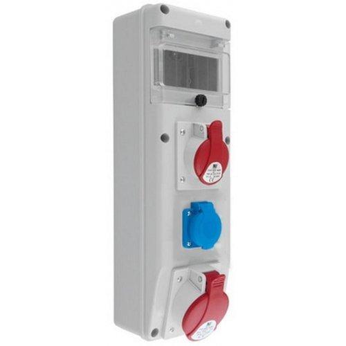Rozdzielnica R-BOX SLIM 6S 1x32A/5p, 1x16A/5p, 1x230V, IP44