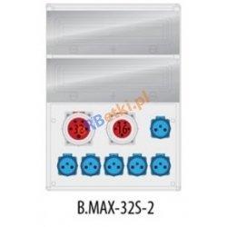 Rozdzielnica MAX BOX-32S 1x32A/5p, 1x16A/5p,6x230V, IP65