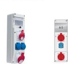 Rozdzielnica R-BOX SLIM 6S 2x16A/5p, 1x230V zabezp. 1xM.01-B16/3, 1xM.01-B16/1, IP44