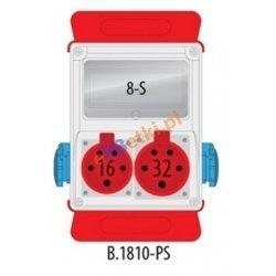 Rozdzielnica R-BOX 240 8S 1x16A/5p, 1x32A/5p, 2x230V, puste okno, podstawa stalowa (komplet 2 szt.), IP44