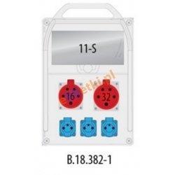 Rozdzielnica R-BOX 382R 11S 1x16A/5p, 1x32A/5p, 3x230V zabezp. 1xM.01-B32/3, 1xM.01-B16/3, 3xM.01-B16/1, IP44