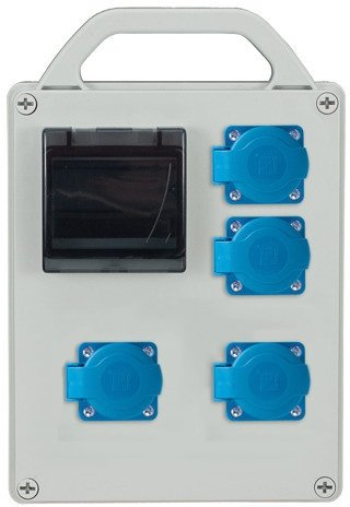 Rozdzielnica R-BOX 240R 4S 4x230V, zabezp.2xB16/1, IP44