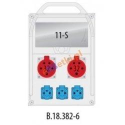 Rozdzielnica R-BOX 382R 11S 2x32A/5p, 3x230V, IP44