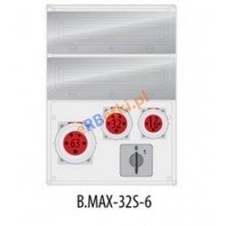 Rozdzielnica MAX BOX-32S 1x63A/5p, 1x32A/5p, 1x16A/5p,wył. (0/1), IP65