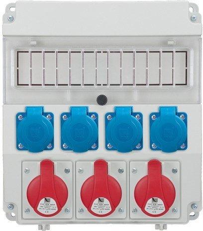 Rozdzielnica R-BOX LUX 320 3x16A/5p, 4x230V, puste okno, IP 44