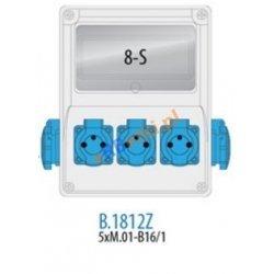 Rozdzielnica R-BOX 240 8S 5x230V, zabezp. 5xM.01-B16/1, IP44