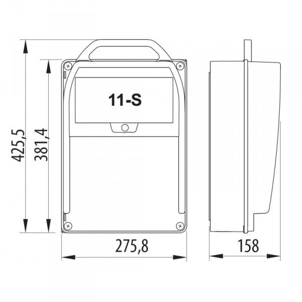 Rozdzielnica R-BOX 382R 11S 1x16A/5p, 1x32A/5p, 3x230V, L/P, IP44