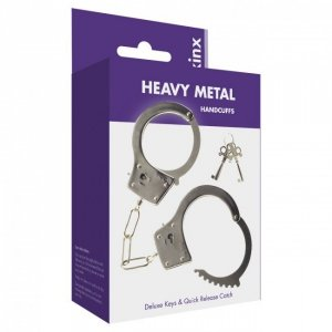 Kajdanki-Metal Handcuffs with 2 Deluxe Keys Was