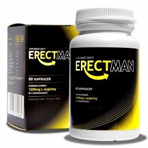 ERECTMAN - Bardzo mocny suplement na erekcję 60caps.