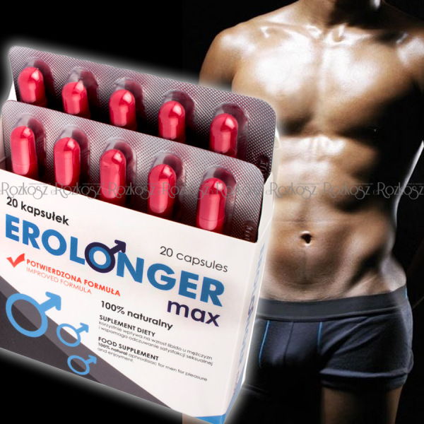 Erolonger Max 20 caps - Mocna erekcja, libido i orgazm