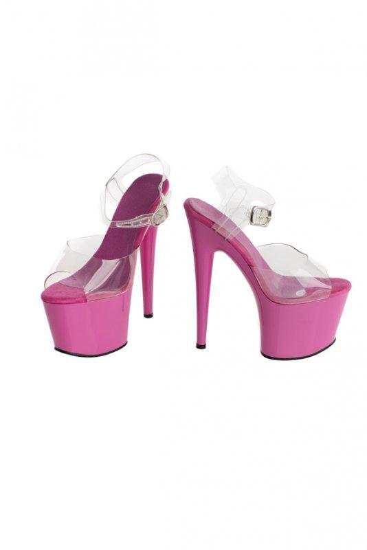 Buty- różowe platformy 41